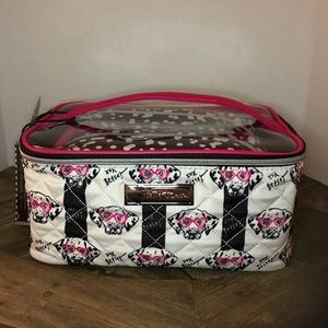 Betsey Johnson Dalmatian Three Piece Travel Case
